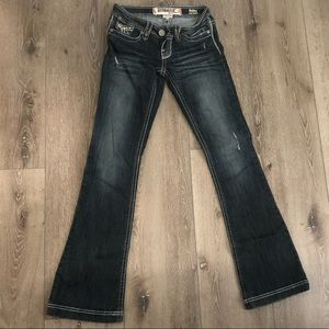 Hydraulic boot cut bling jeans